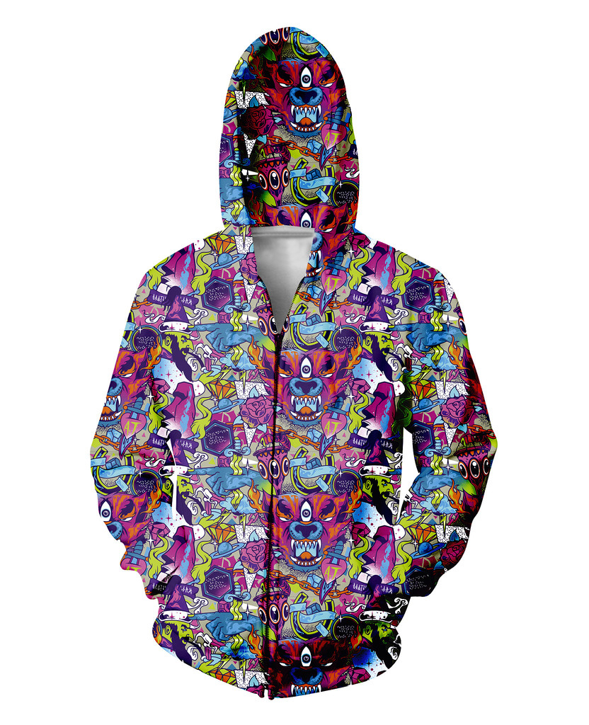 Keeping It Classic Zip-Up Hoodie wolves roses diamonds horse shoes 3d Sweatshirts Women Men Sport Tops Jumper Outfits Coats(China (Mainland))