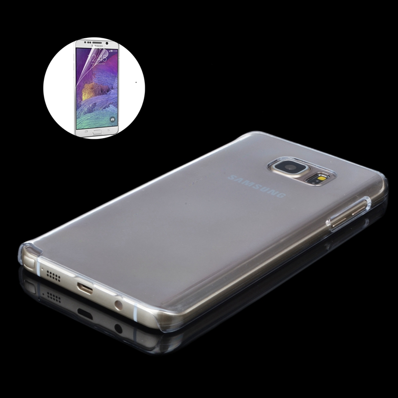 Note5 Clear Phone Cases 0.9mm Transparent TPU Hard Back Cover Case For Samsung Galaxy Note 5 Crystal Protective Capa+Screen Film(China (Mainland))