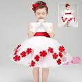 Fashion Tutu Party Girls Dresses Ball Gown Birthday Wedding Summer Evening Flower Princess Formal Kids Clothes