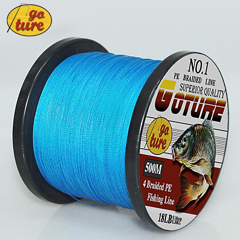 Goture 2015 супер сильный японский 500 м Multifilament чп материал плетеная 6 8 10 20 30 40 50 60 70 80 100LB