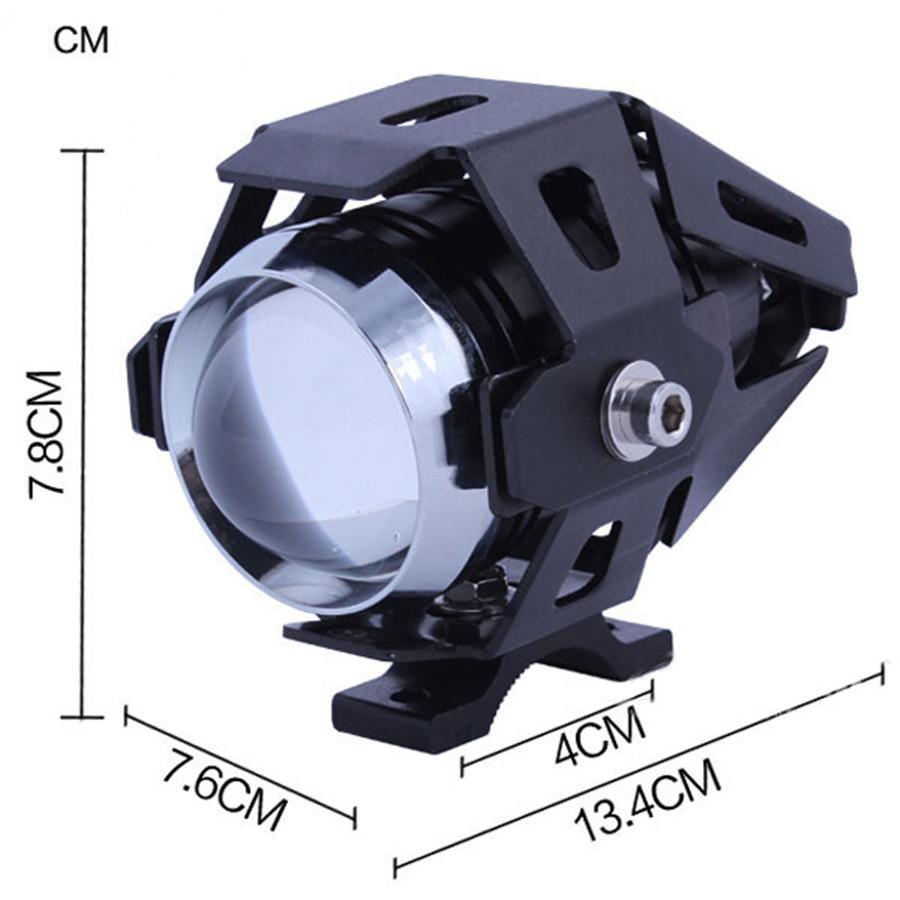 motorcycle 125w cree uf8 led driving fog head spot light. Black Bedroom Furniture Sets. Home Design Ideas