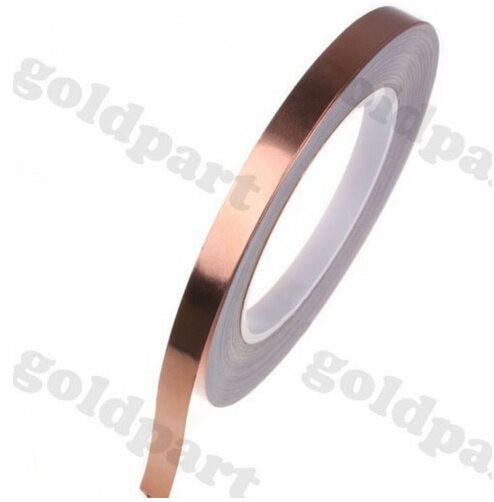 2 roll 4MM*30M Single Adhesive Conductive Copper Tape EMI Shielding Copper Foil Strip Stained Glass Work, Laptop(China (Mainland))
