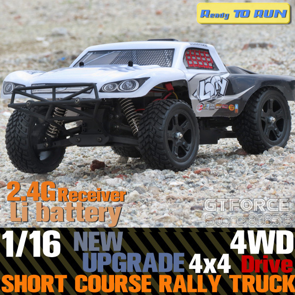 New upgrade 2.4Ghz Loccy 1/16 Scale Electric rc Short Course Truck Rally Truck 4x4 4WD Off Road RC Truck with Li-ion battery RTR(China (Mainland))