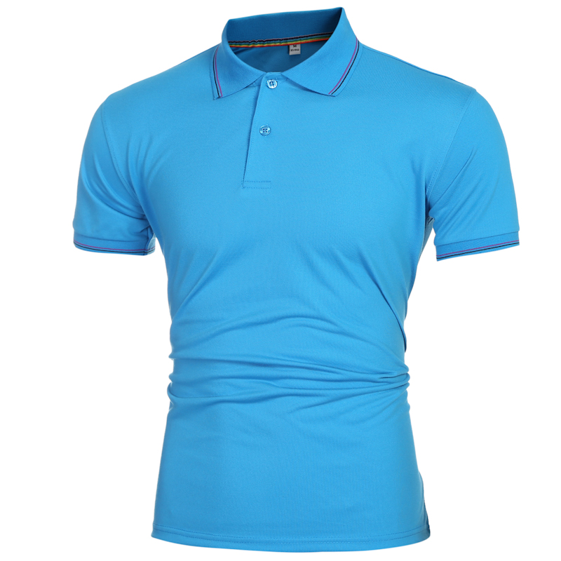 2016 Summer High Quality Turn-Down Collar Short Sleeve Jerseys Polos Men Solid Color Tennis Polo Shirt Casual Sport Golf Polos(China (Mainland))