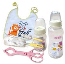 Hot sales! of well-known brand of portable 300mlPP Baby feeding bottles + 120mlpPP feeding bottles security suite antibacterial