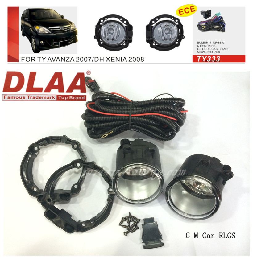 Фотография Car fog lamps, light source, safety DLAA  fog lamps, suitable for  toyota  AVANZA 2007 DH XENIA 2008 H11 12 V 55w