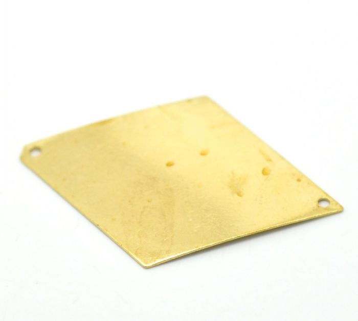 "30PCs Brass Blank Stamping Tags Rhombus for Necklaces,Earrings,Bracelets etc.4.2x2.8cm(1-5/8""x1-1/8"") Mr.Jewelry(China (Mainland))"