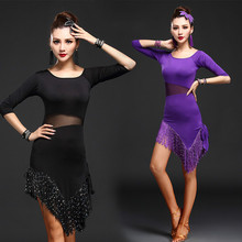 Buy New Adult Latin Dance Costumes Performance Wear Sexy Tassel Latin Dance Dress Women Lady Ballroom Dance Dress Stage 89 for $26.56 in AliExpress store