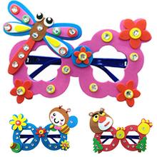 1 PCS Kids handmade DIY Eva glasses personalized decoration puzzle cartoon glasses educational toys for children Gift W020