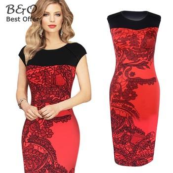 Women Office Dress Plus Size Women Elegant OL Pencil Dress Casual Bandage Bodycon Party Dresses Vestidos Femininos b2# 41