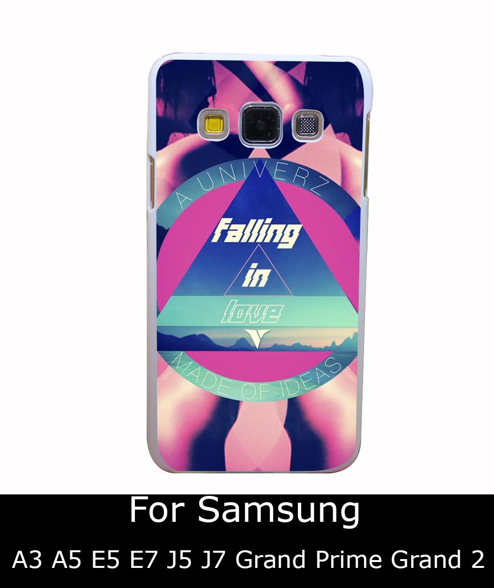 935Qua FALLING IN LOVE Made Ideas Style White Hard Back Cover for Samsung Galaxy A3 A5 A7 A8 E5 7 J5 J7 Grand 2 & Prime(China (Mainland))