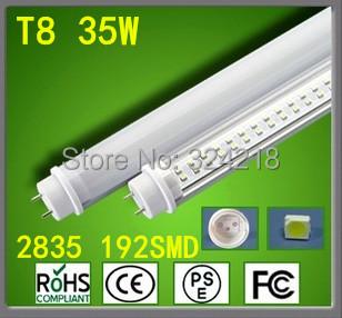 FedEX or UPS Free shipping 30pcs/lot 32W 1200MM T8 LED Tube High brightness Epistar SMD2835 25LM/PC 192led/PC 3500LM AC85-265V(China (Mainland))