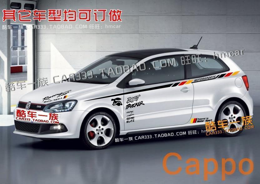 ForNew POLO / Polo / Golf car stickers car stickers car waistline whole vehicle garland whole car sticker 03<br><br>Aliexpress
