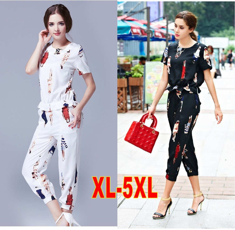 2015 New Spring Summer Style Women Fashion Sets Cotton And Linen Set Lady Blouse Pants Suits
