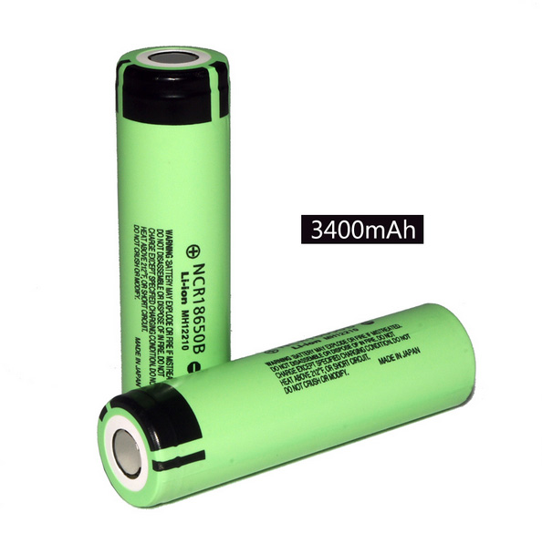 NEW 2 pcs lot New Original 18650 NCR18650B Rechargeable Li ion battery 3 7V 3400mAh For