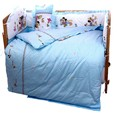 Promotion 10PCS Mickey Mouse Baby crib bedding set bed linen cotton bedclothes bed decoration bumpers matress