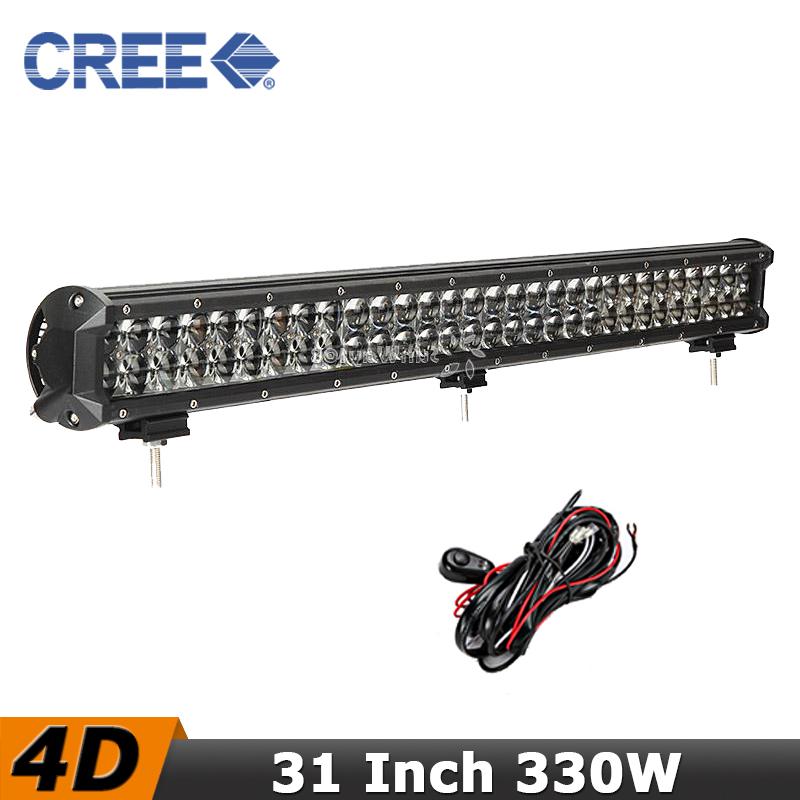 32 inch 330W CREE LED Offroad Light Bar Combo Beam Off road Driving Bar Lights 12V 24V Truck ATV 4X4 Truck Pickup LED BAR(China (Mainland))