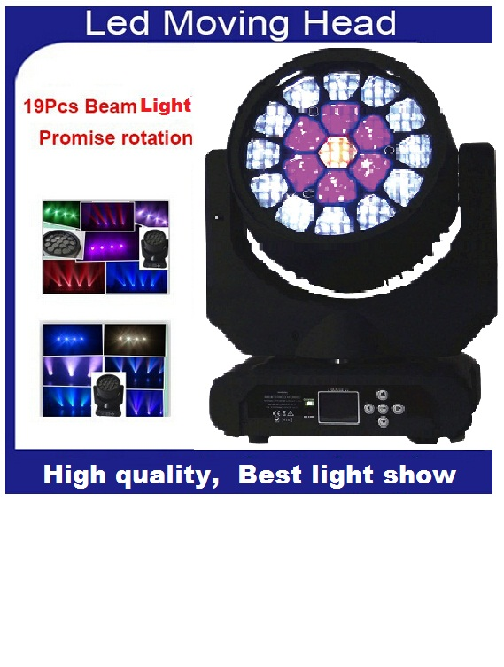 Newest Zoom Bee Eye LED Beam Wash Moving Head Light Osra Cree Led Lamp 4in1 RGBW 19x15W Professional Strobe Lighting for Disco <br>