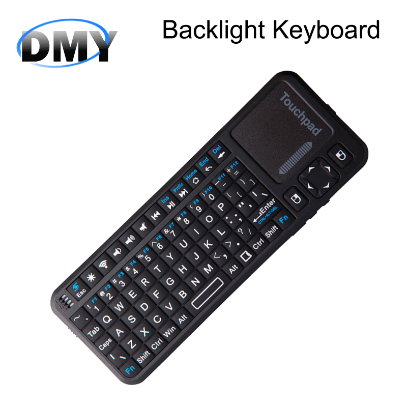 IPazzPort Bluetooth Handheld portable Wireless keyboard with Touchpad Gaming Backlight keyboard laser pointer For Mini PC TV Box(China (Mainland))