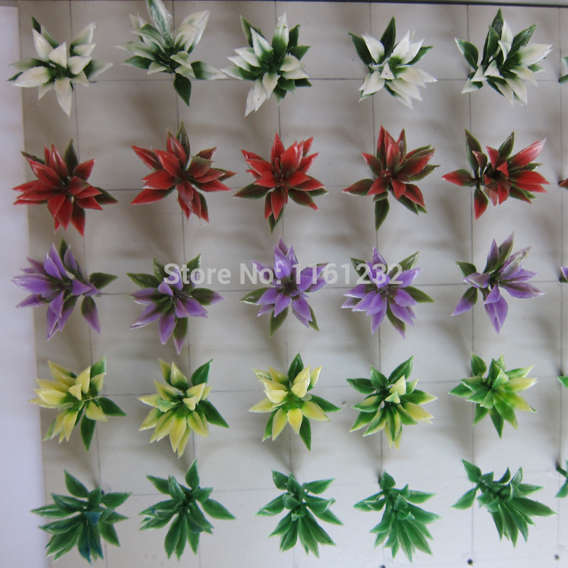2.5cm small plant artificial flowers and green plants for outdoor layout Ho train model building(China (Mainland))
