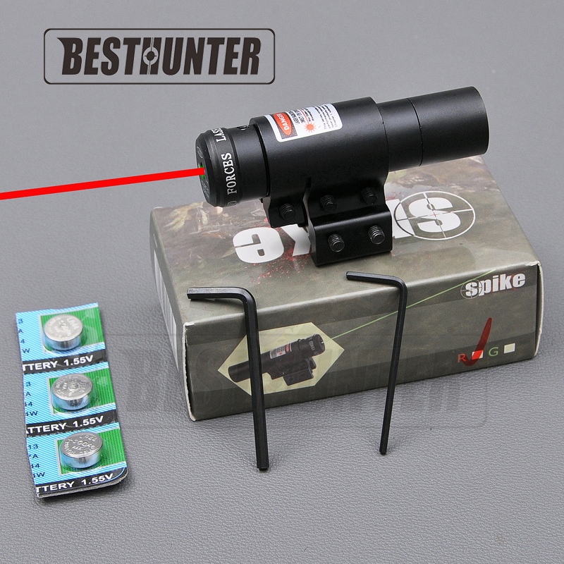 Tactical Flashlight Laser Vision Night Hunting Compact Adjustable Red/Green Dot Laser Sight Airsoft Sniper Rifle(China (Mainland))