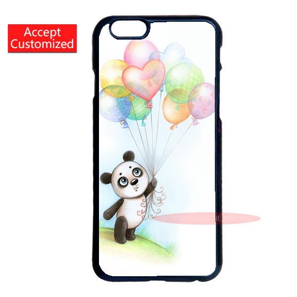 Balloon Panda Hard Plastic Cover Case Samsung Galaxy Note 2 3 4 5 S2 S3 S4 S5 Mini S6 S7 S7 Edge Plus #117