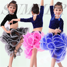 Buy 4 PCS Child Latin Dance Dresses Kids Ballroom Dance Costume Girl Modern Dance Dress Women Vestido Waltz Stage Dance Clothing 89 for $29.47 in AliExpress store
