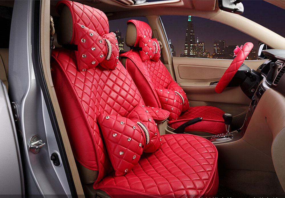 2016 new Superior quality luxury Seat Covers leather Seating Universal Full Set car seat cover Easy to install Fit Most Car(China (Mainland))