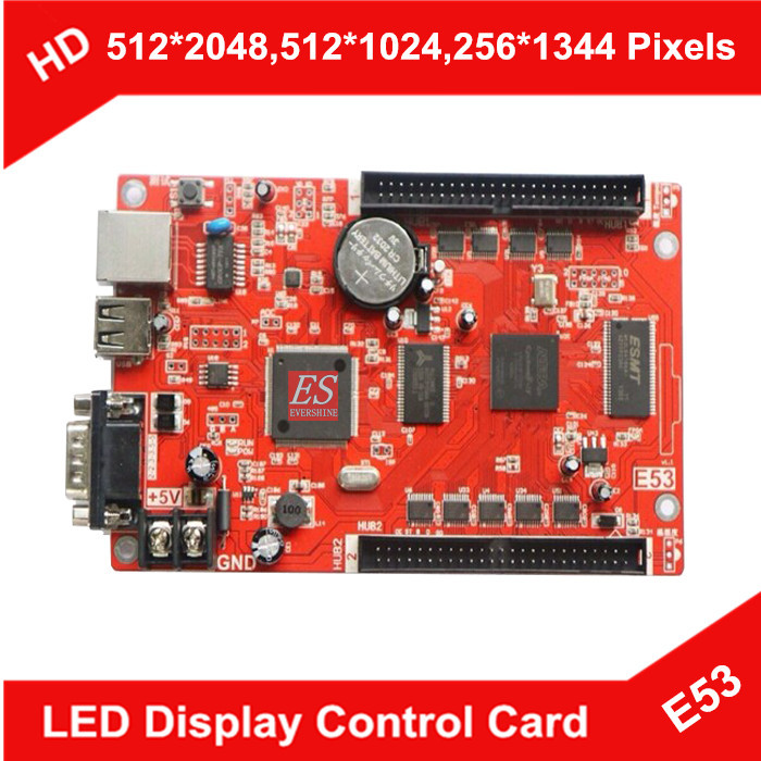 HD-E53 Network+USB+Serial Port LED Control Card Single/Dual Color LED Display Screen Controller LED Moving Message Sign Board(China (Mainland))