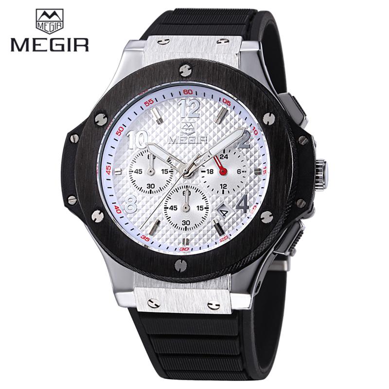 MEGIR CHRONOGRAPH &amp; 24 Hours Function Men Sport Watch Silicone Gold Luxury Watch Men Top Brand Military Watch Relogio Masculino<br><br>Aliexpress