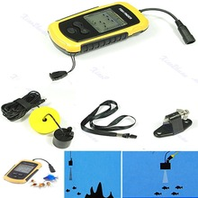 100m Sonar Sensor Fish Finder Alarm Transducer Portable(China (Mainland))