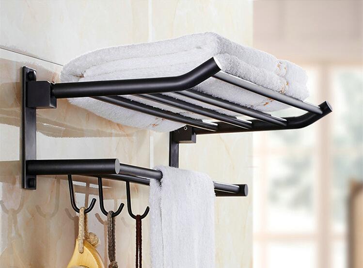 Bathroom Towel Racks popular towel rack black-buy cheap towel rack black lots from