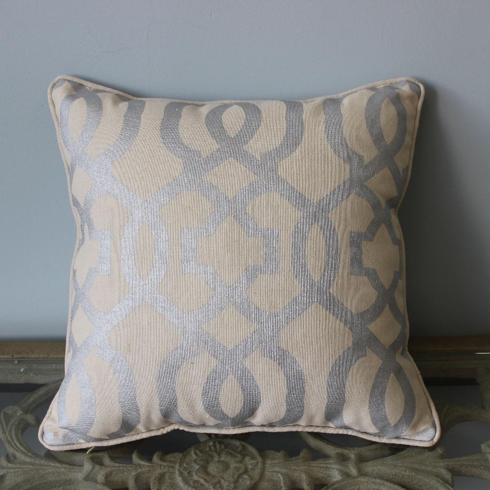 "VEZO HOME print silver geometric linen sofa cushions cover home decorative throw pillows cover chair seat pillowcase 16x16""(China (Mainland))"