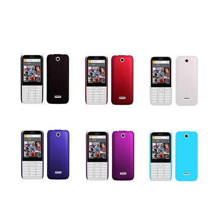 Candy Color Slim Fit Rubber Case Hard Plastic Matte Skin Cellphone Cases for Nokia 225 / Dual Sim RM-1012 new in stock+tracking(China (Mainland))