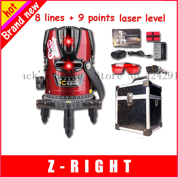 Гаджет  Free shipping!!! laser level 8 lines 9 point 360 rotary cross laser line +battery Can be used with detector WAL01 None Инструменты
