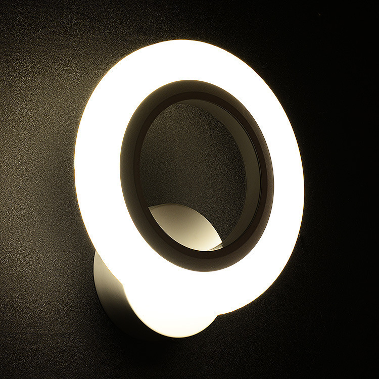 200*230mm Acrylic Round Led 9W wall light SMD2835 220V for Recessed Wall Sconces Lamp Bedside ...