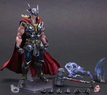 Thor Action Figure Playarts Kai Superhero Thor Collection Model Brinquedos 270MM Play Arts Kai Thor PVC Figure Playarts Kai Toys