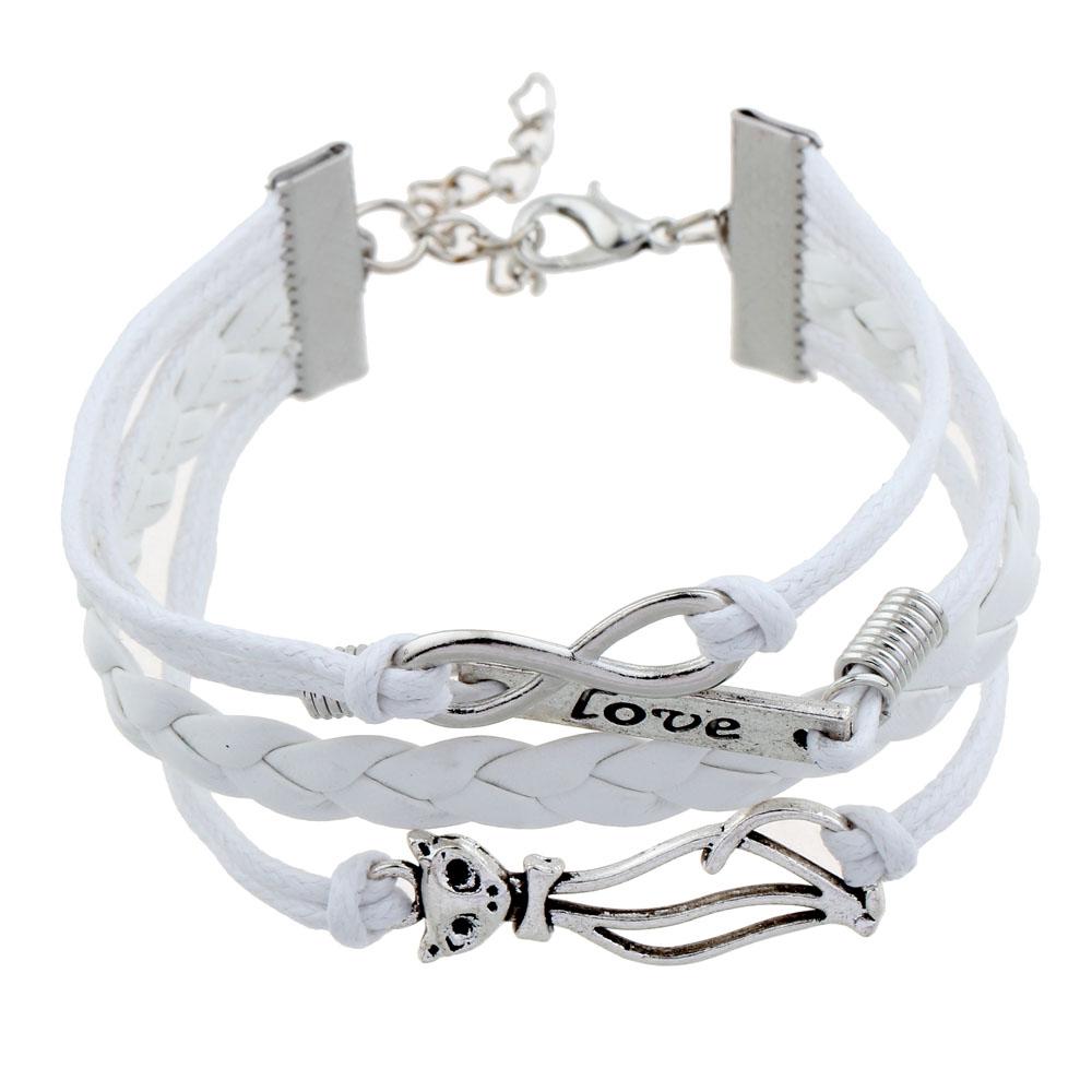 2016 new arrival blue bracelet cross bracelet pulseira feminina bralseira masculine cat charm bracelet friendship gift(China (Mainland))