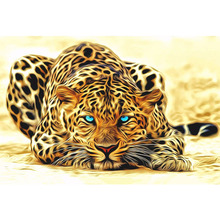 unframed Leopard animals DIY painting by numbers Acrylic picture wall art canvas painting home decor unique gift 40x50cm artwork(China (Mainland))