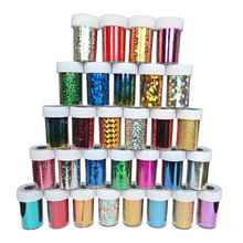 6pcs Hot Sale! Stylish Beauty Hot Sells Glaxy Nail Sticker Nail Art Decal Foil 46 Colors for choose