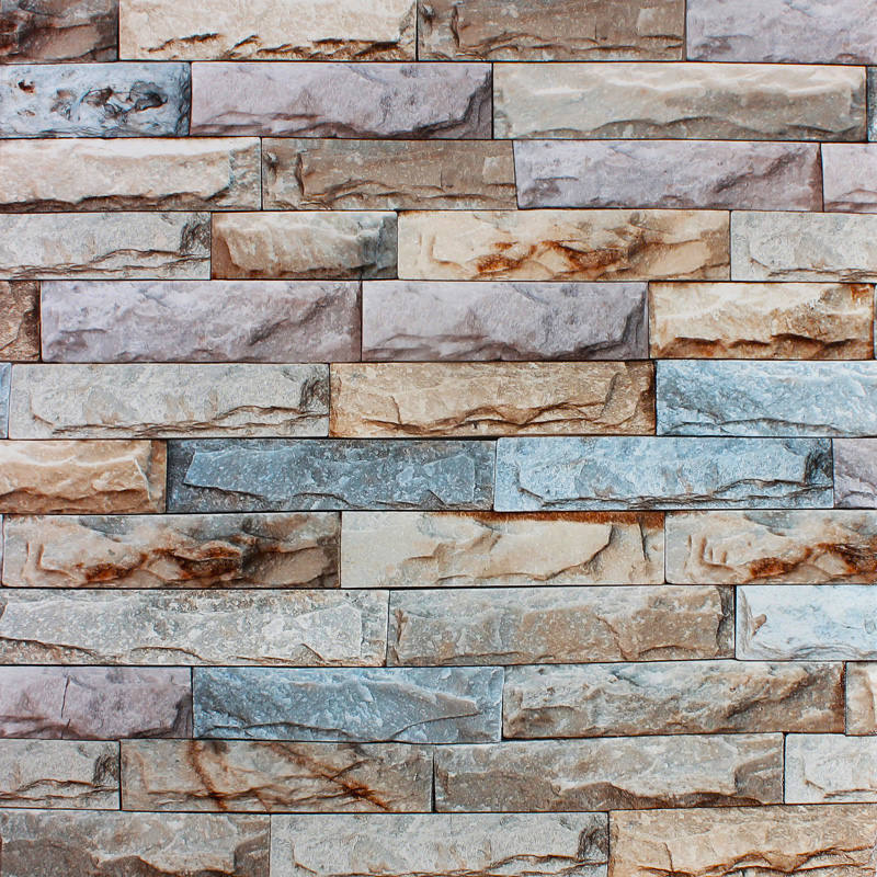 Vintage Stone Walls : M stone wall textured feature d wallpaper roll tv