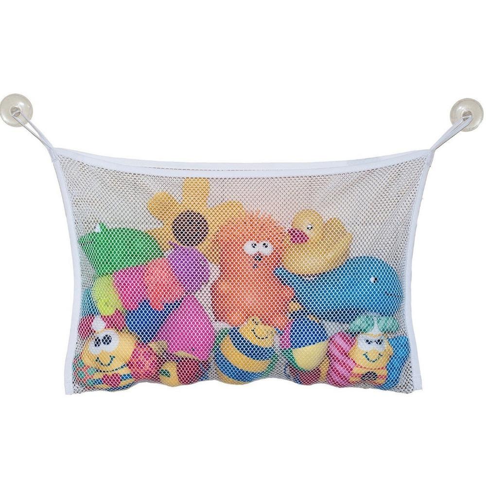 Bath Toy Organizer + 2 Bonus Strong Hooked Suction Cups Large(China (Mainland))