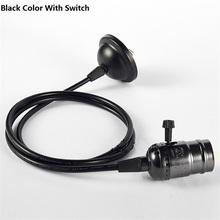 BRIGHTINWD 110V 220V Retro Edison Bulb Holder E27 Socket Antique Brass Lamp Base Cord Grip Threaded Lampholder For Pendant Light(China (Mainland))