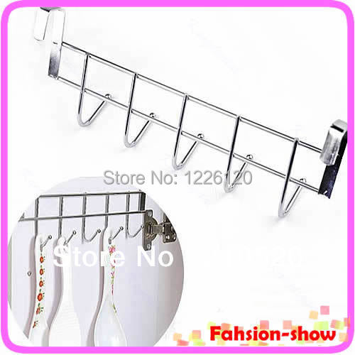 W110New Arrive Bathroom Kitchen Hat Towel Hanger Over Door Hanging Rack Holder Five Hooks Wholesale(China (Mainland))