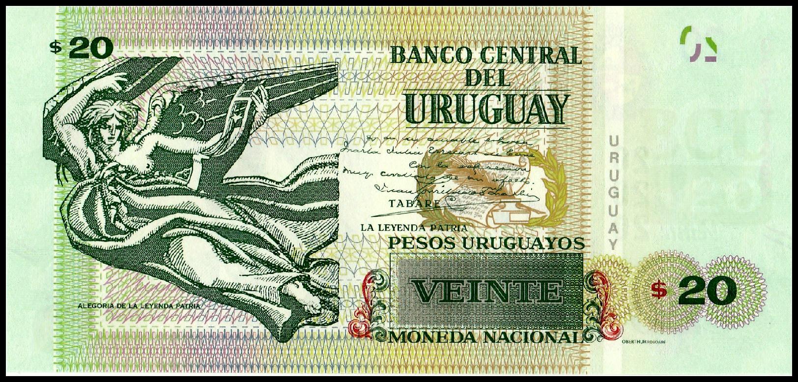 Uruguay 50 Pesos Uruguayos p-new 2018 Commemorative UNC Banknote