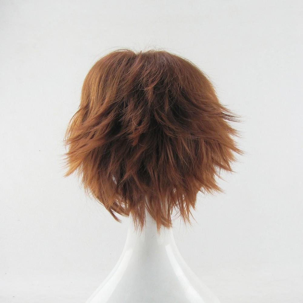 HITMAN REBORN! Sawada Tsunayoshi/Yukina Kou/Ri Syaoran Light Brown Short Cosplay Wig,Anime Wig