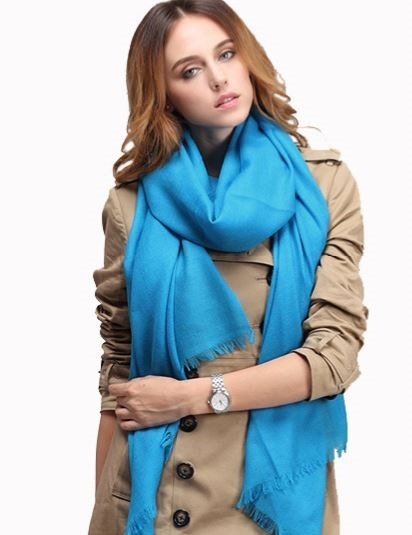 fashion Scarf 100% wool spring solid color Scarf autumn Plaid Thick Brand Shawls Scarves Women pashmina 15 colors(China (Mainland))