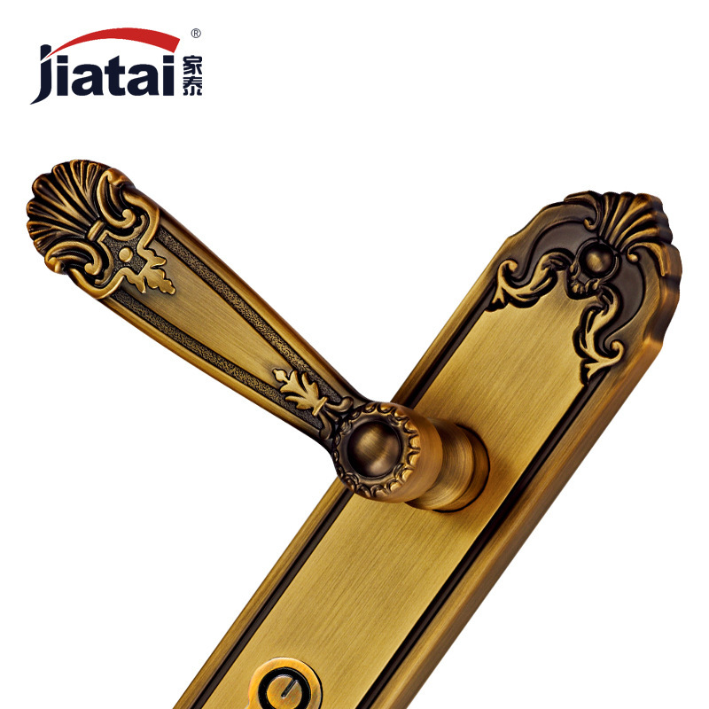 Thai high-end home European American antique hardware locks ZL249332 yellow bronze door locks on the door<br><br>Aliexpress