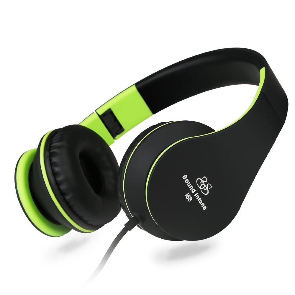Sound Inotone I68 deep bass headphones with microphone quality stereo headset for PC MP3 DJ headphone to computer Studio T10(China (Mainland))