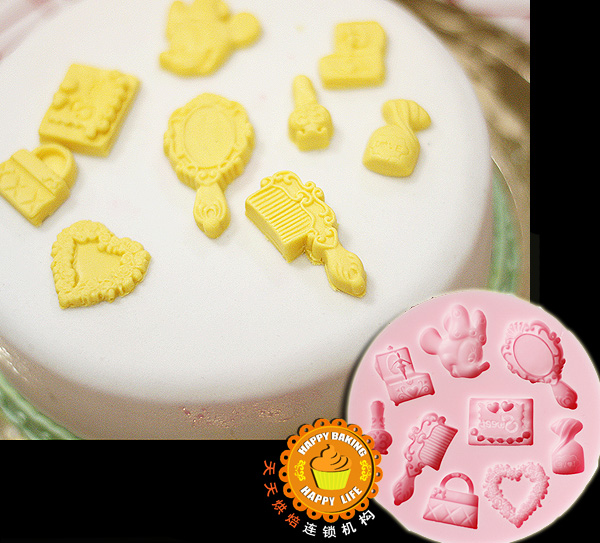 DIY silicone molds for cake decorating jelly dessert soap mould fondant tools chocolate mold soft comb mirror shape F0315MK45(China (Mainland))